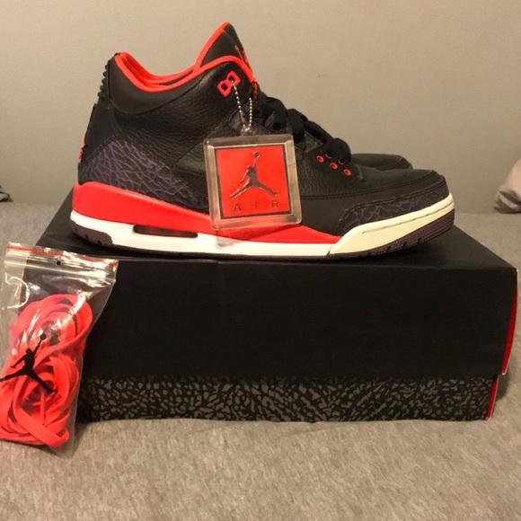 "huge selection of aa0ea 9a362 Jordan Other - Jordan Retro 3 ""Crimson"" - Size 9"